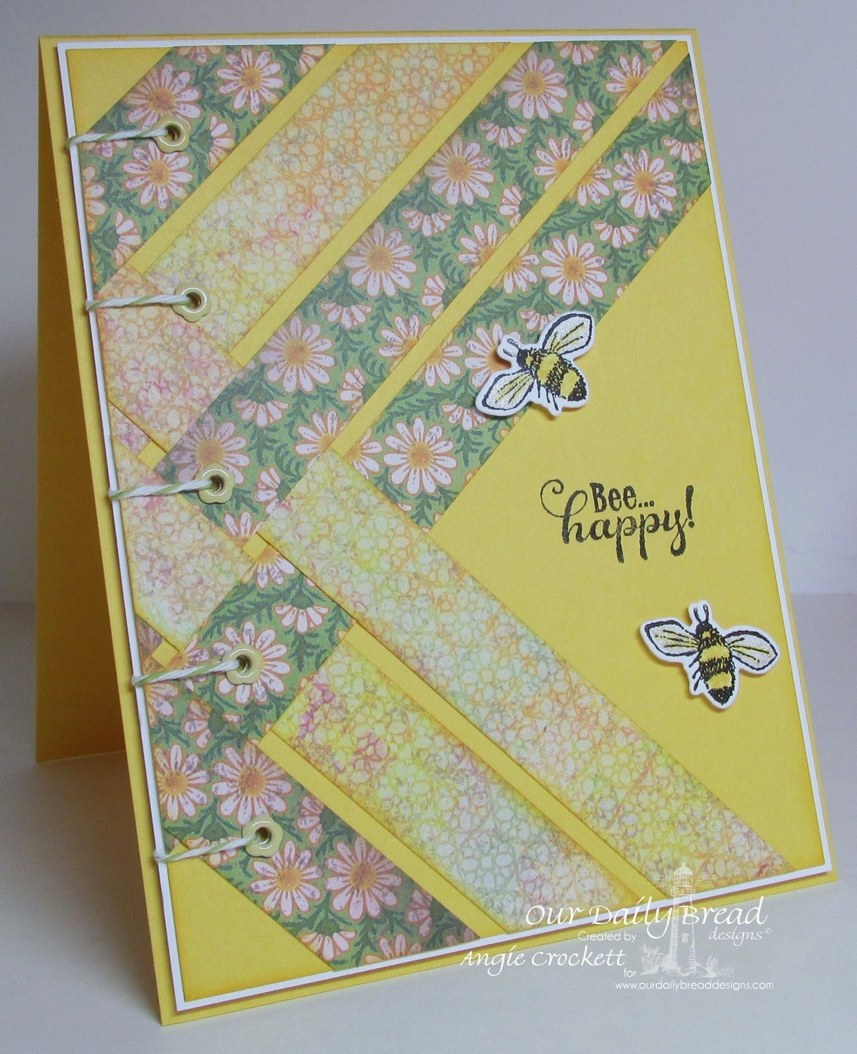 ODBD Bee Happy, ODBD Custom Zinnia and Leaves Die Set, ODBD Blooming Garden Designer Paper Collection, Card Designer Angie Crockett