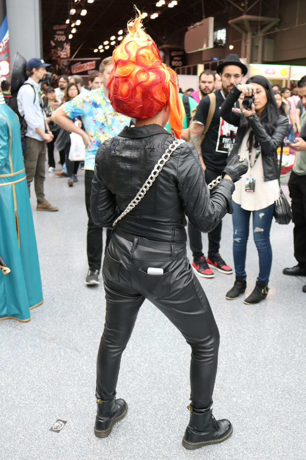 Ghost rider cosplay at new york comic con 2015 nubias nonsense who knew ghost rider likes dogs solutioingenieria Gallery