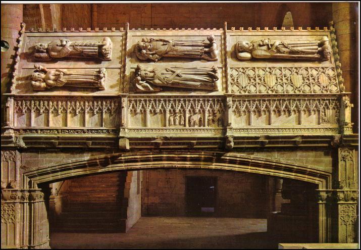 Enterramiento de los reyes de Aragón