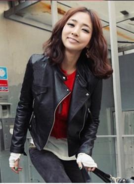 jaqueta couro preta