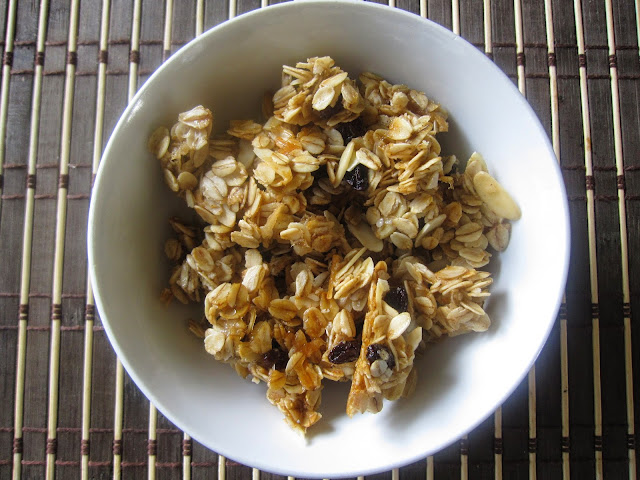 Sweet and Salty Coconut Vanilla Bean Granola