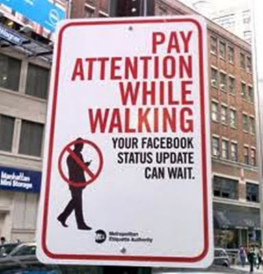 Funny Facebook road sign