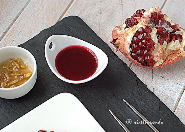 riduzione di melograno e zenzero caramellato ricetta salsa di frutta