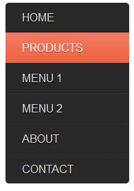 Simple Css Vertical menu bar, vertical menu bar examples