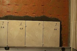 укладка плитки не стену не от пола