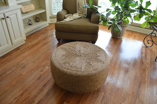 DIY Nautical rope ottoman