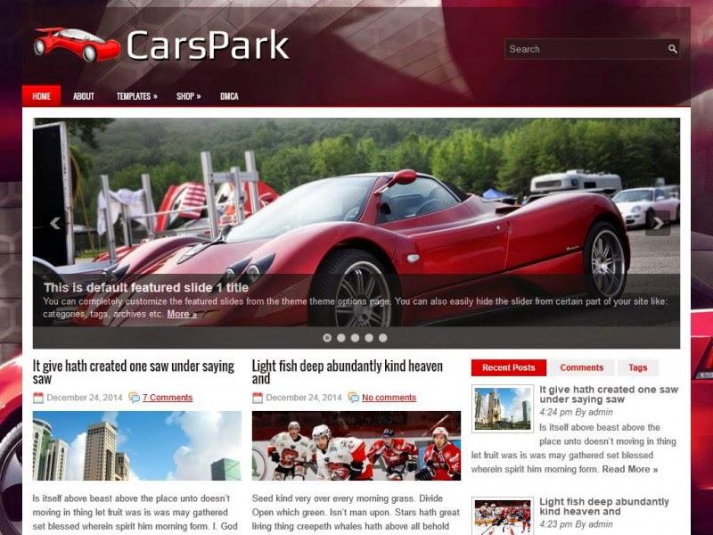 CarsPark - Free Wordpress Theme