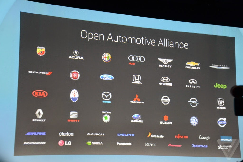 Android Auto alliance with Car Makers