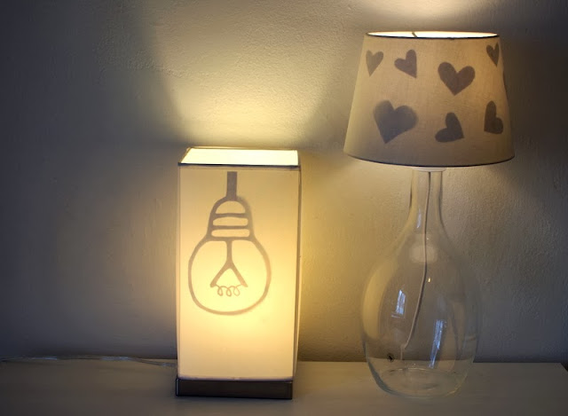 Reveal Hidden Lampshade Silhouettes Pink Stripey Socks