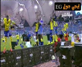 شاهد فرحة لاعبى النصر السعودى بالتتويج لبطولة الدورى السعودى