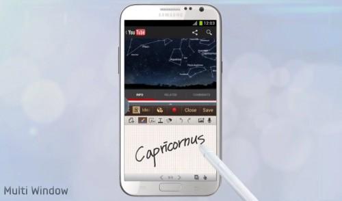 galaxy note 2 multi window video