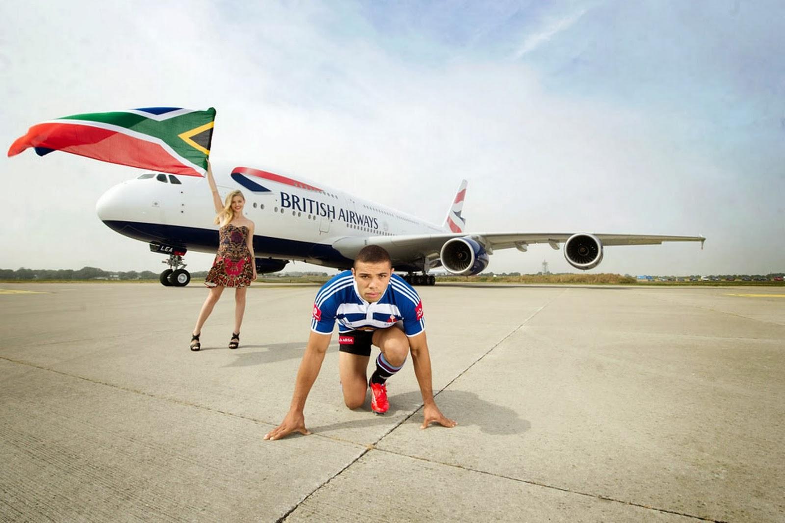 British Airways Airbus A380 Vs Bryan Habana Race