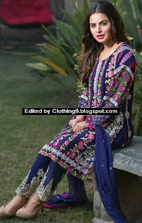 Embroidered Chiffon Formal Suits