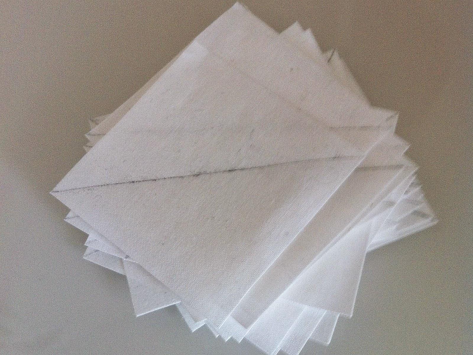 Vierkantjes met diagonale lijn