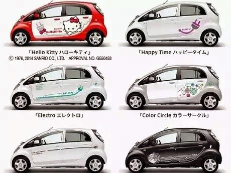 Foto Mobil Hello Kitty Mitsubishi i-MiEV Desain Imut Lucu Terbaru