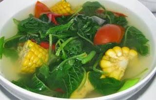 Masak sayur bayam yang lezat