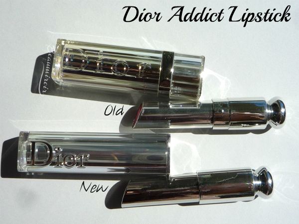 New Dior Addict Lipstick: comparison with the previous version