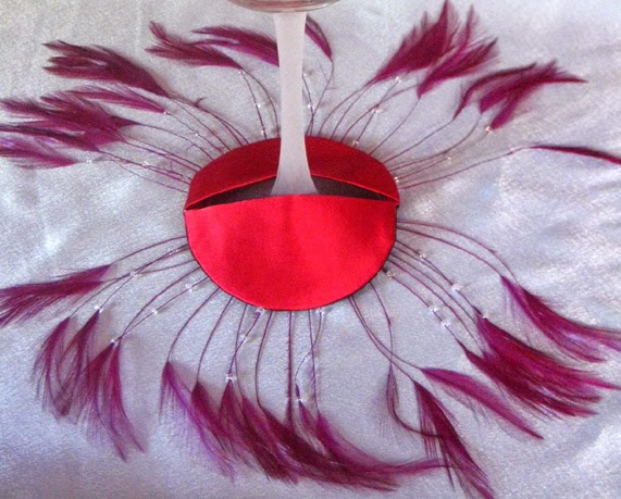 Feather Fan Diva Glass Slippers
