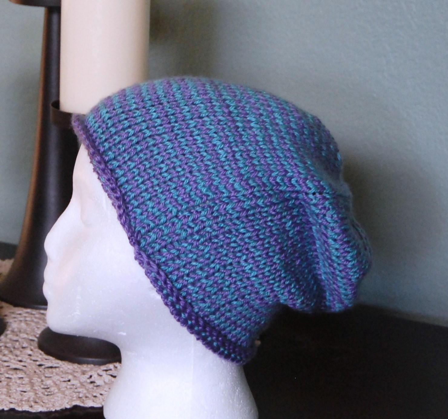Different Knitting Stitches For Hats : The Laughing Willow: Seaming Tunisian knit stitch and a free pattern!