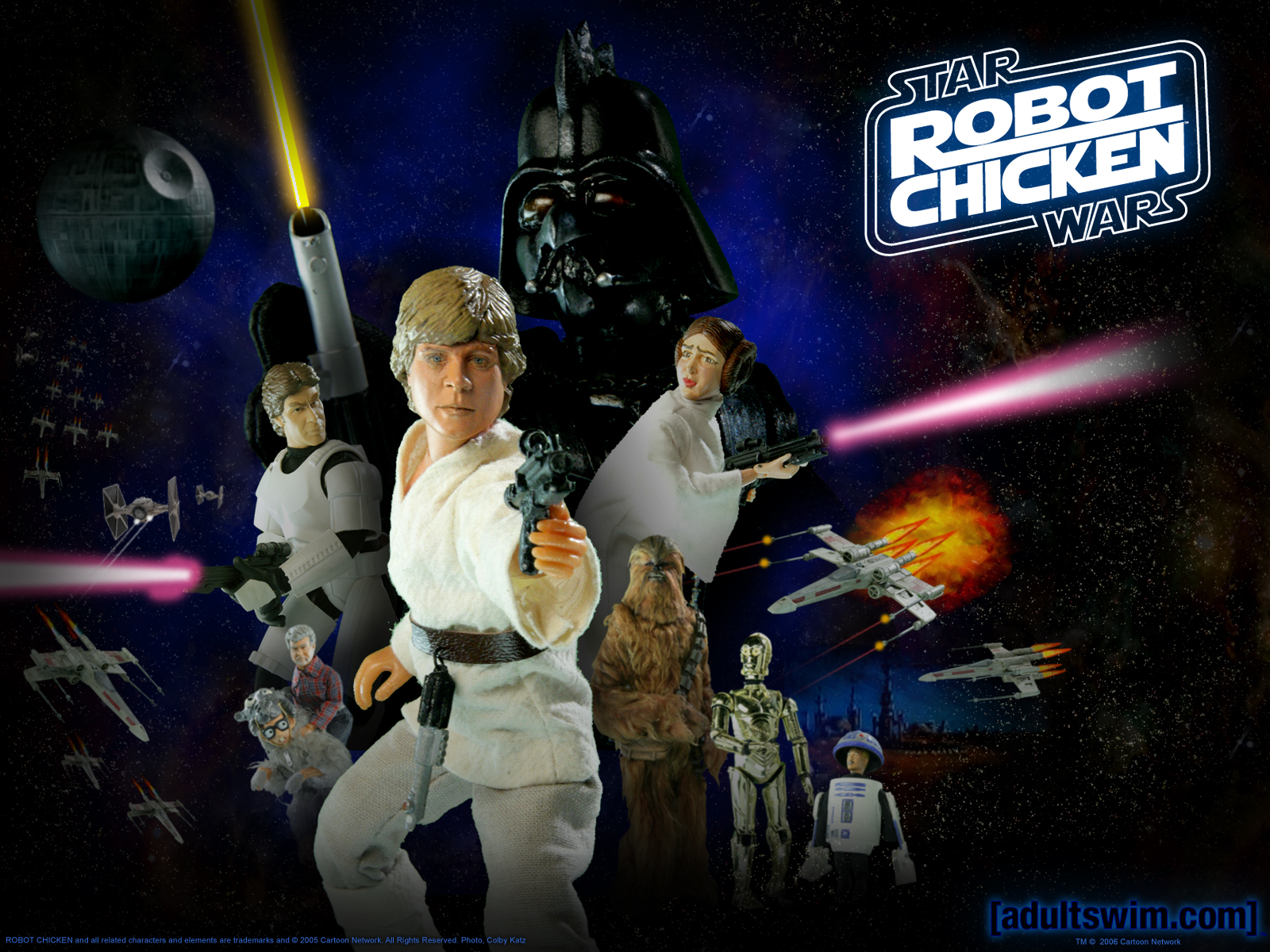 On 7 16 p m friki humor star wars videos star wars robot chicken