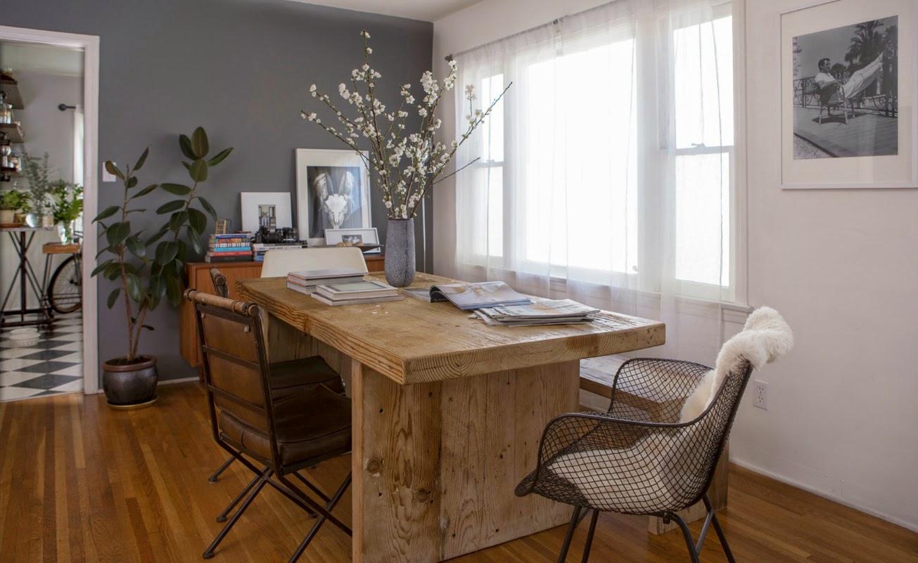 Entspannt lässige Einrichtung in Santa Monica - Wohnen in Holz- und Grautönen