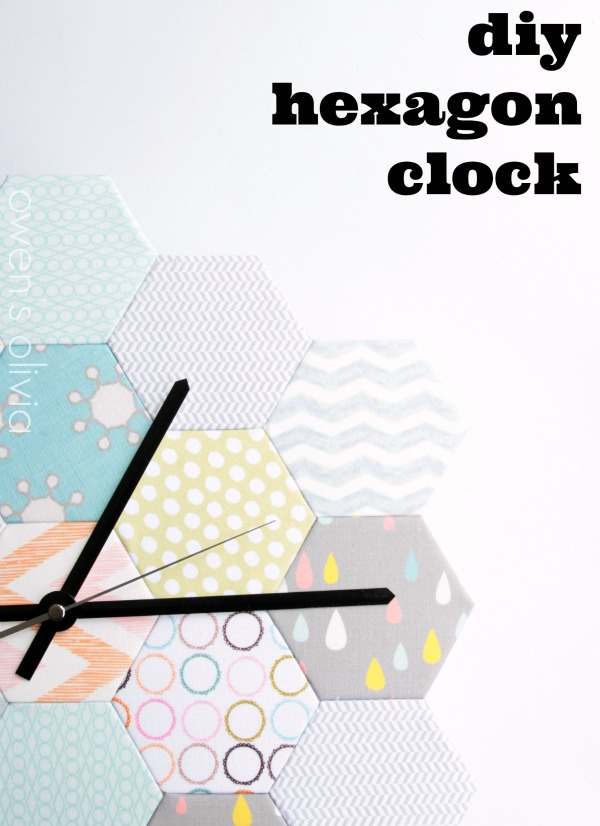 DIY Hexagon Clock by owens olivia