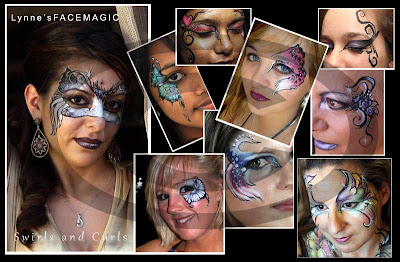 Glamour masks, butterfly swirls, Australian flag or simple curls and flowers with added gems ready for that halloween party or masked ball