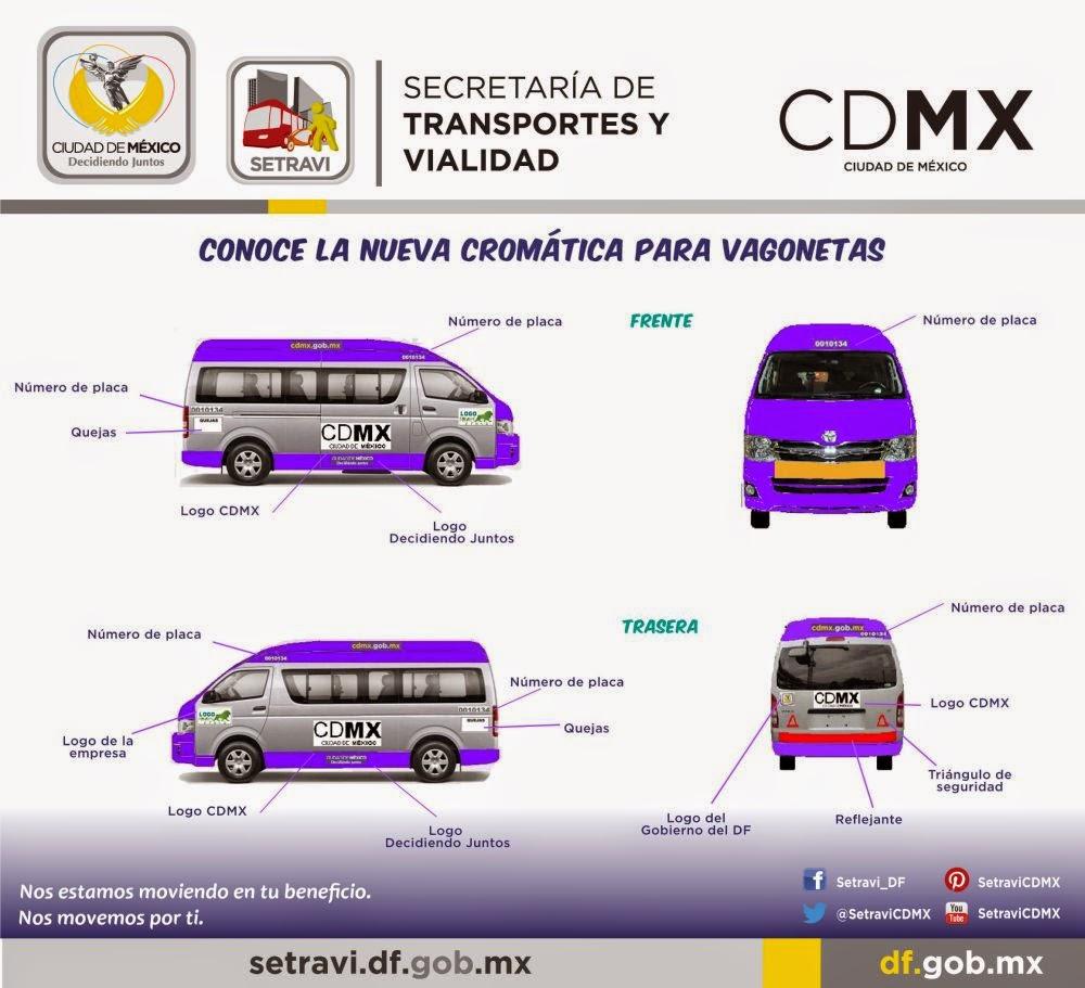 Nueva crom tica para transporte p blico de pasajeros de la ciudad de m xico