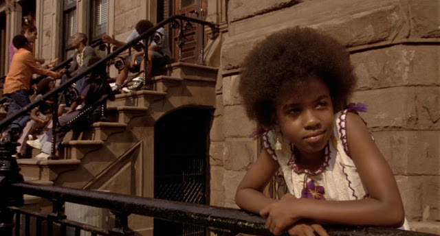 This is the final shot of Crooklyn before the awesome closing credits montage of Soul Train clips. The tune during this shot is not 'Never Can Say Goodbye.' It's 'Mighty Love' by The Spinners. I couldn't find any good shots from the 'Never Can Say Goodbye' sequence online. Plus, that compressed anamorphic shit Spike Lee did with the shots in that sequence ain't exactly easy on the eyes.