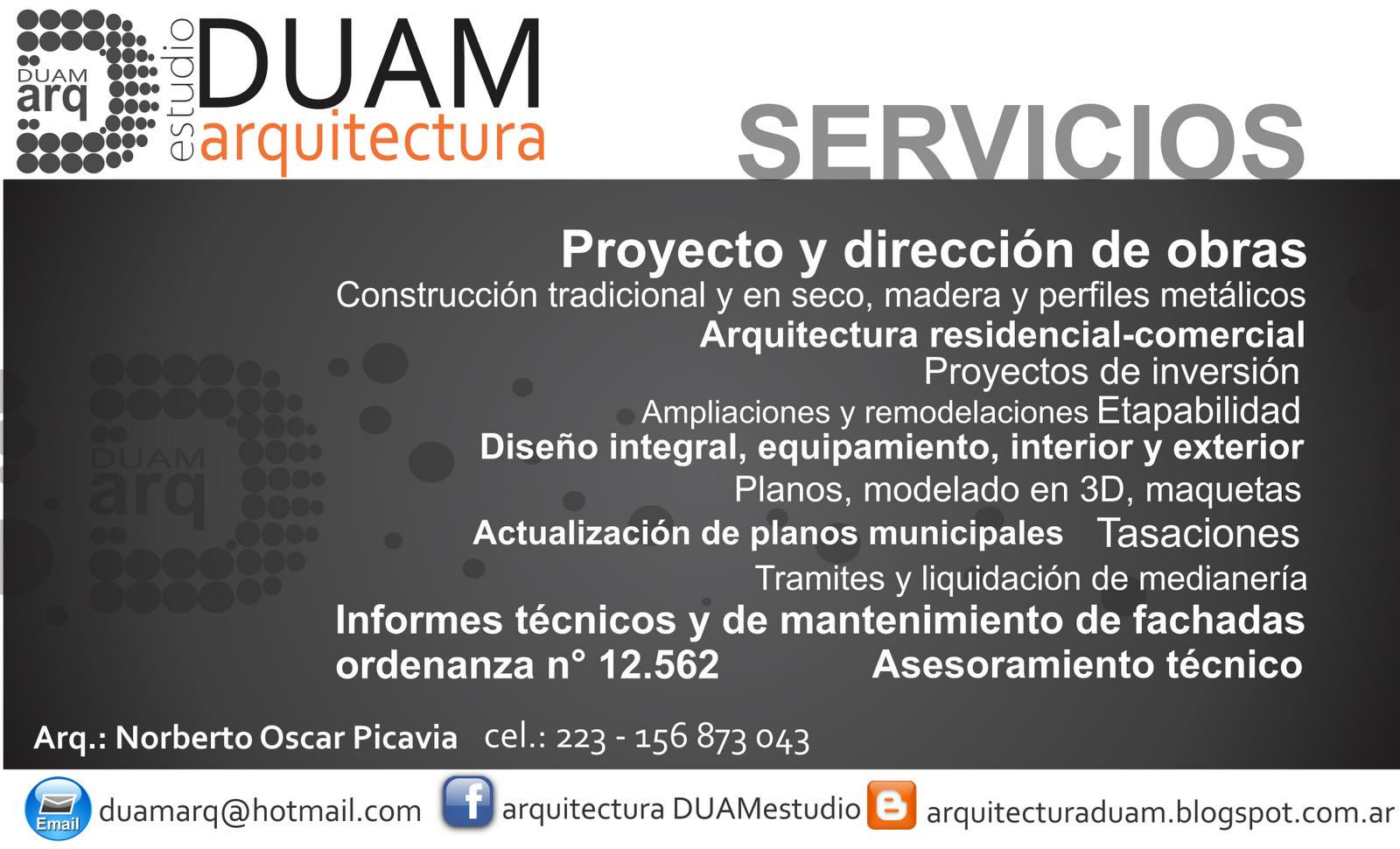Arquitectura duam estudio - Servicios de arquitectura ...