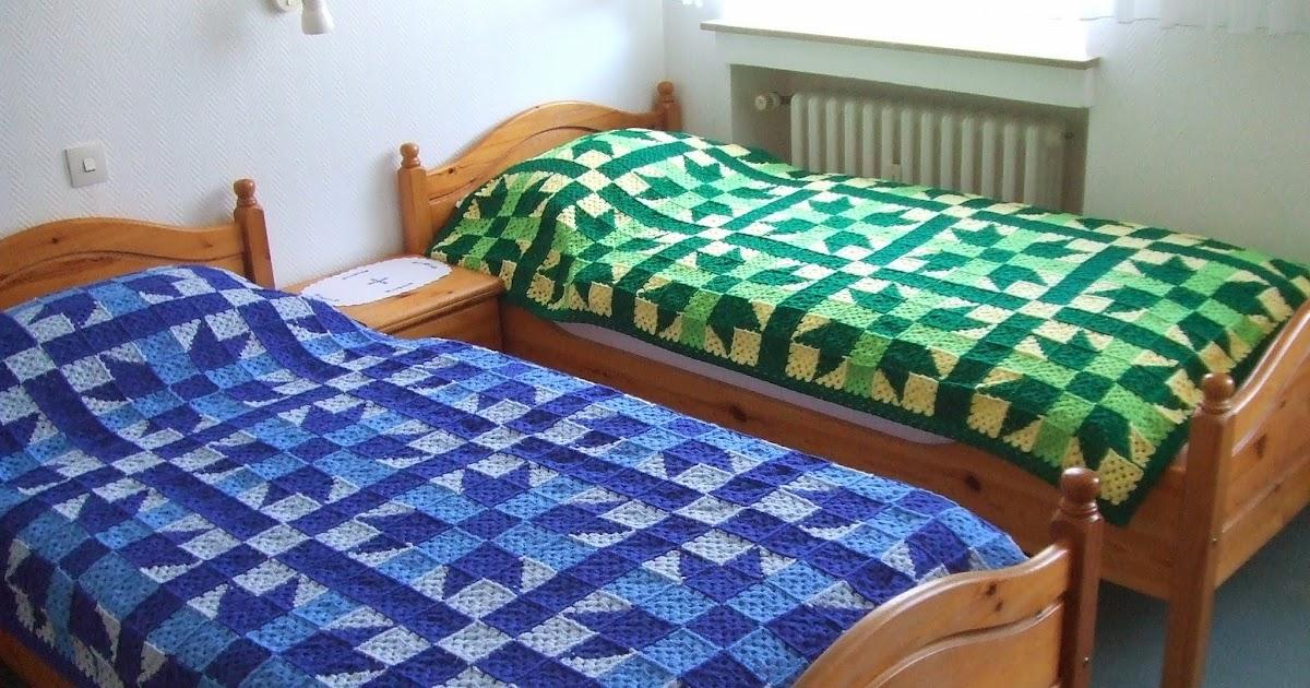 my world of crochet stargranny tagesdecke gr n fertig. Black Bedroom Furniture Sets. Home Design Ideas