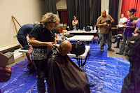 image of someone getting a hair cut.