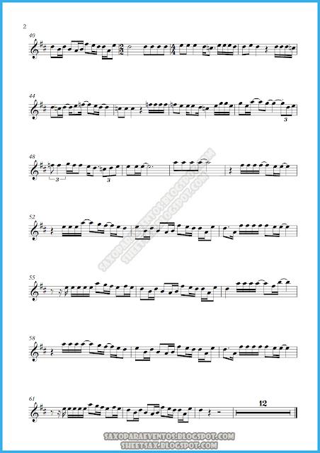 Partitura de I Don`t Want To Miss A Thing de Aerosmith para saxo