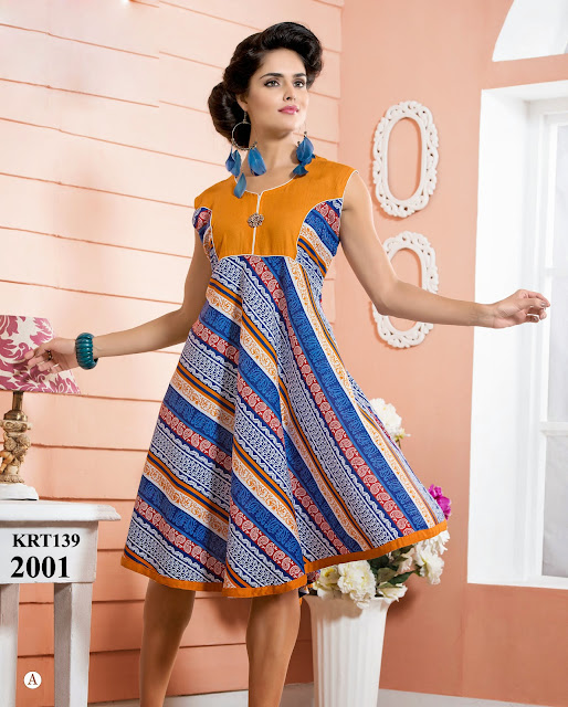 Summer Collection Of Rayon Printed Kurti