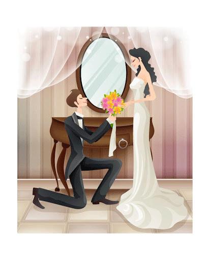 Dibujos de novios para invitaciones de boda