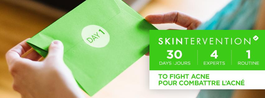 Combattez l'acné grâce au programme #Skintervention