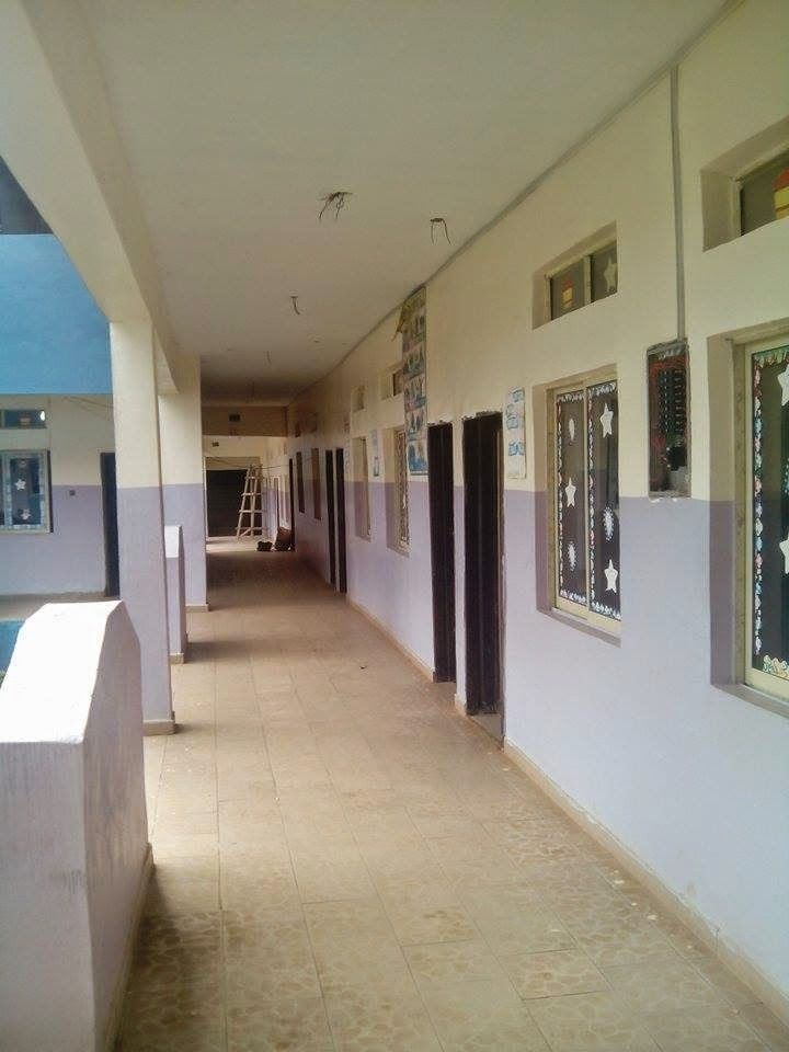 A section of classrooms