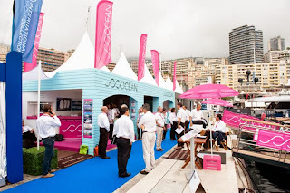 Ocean Independence's vibrant exhibition stand at Monaco Yacht Show