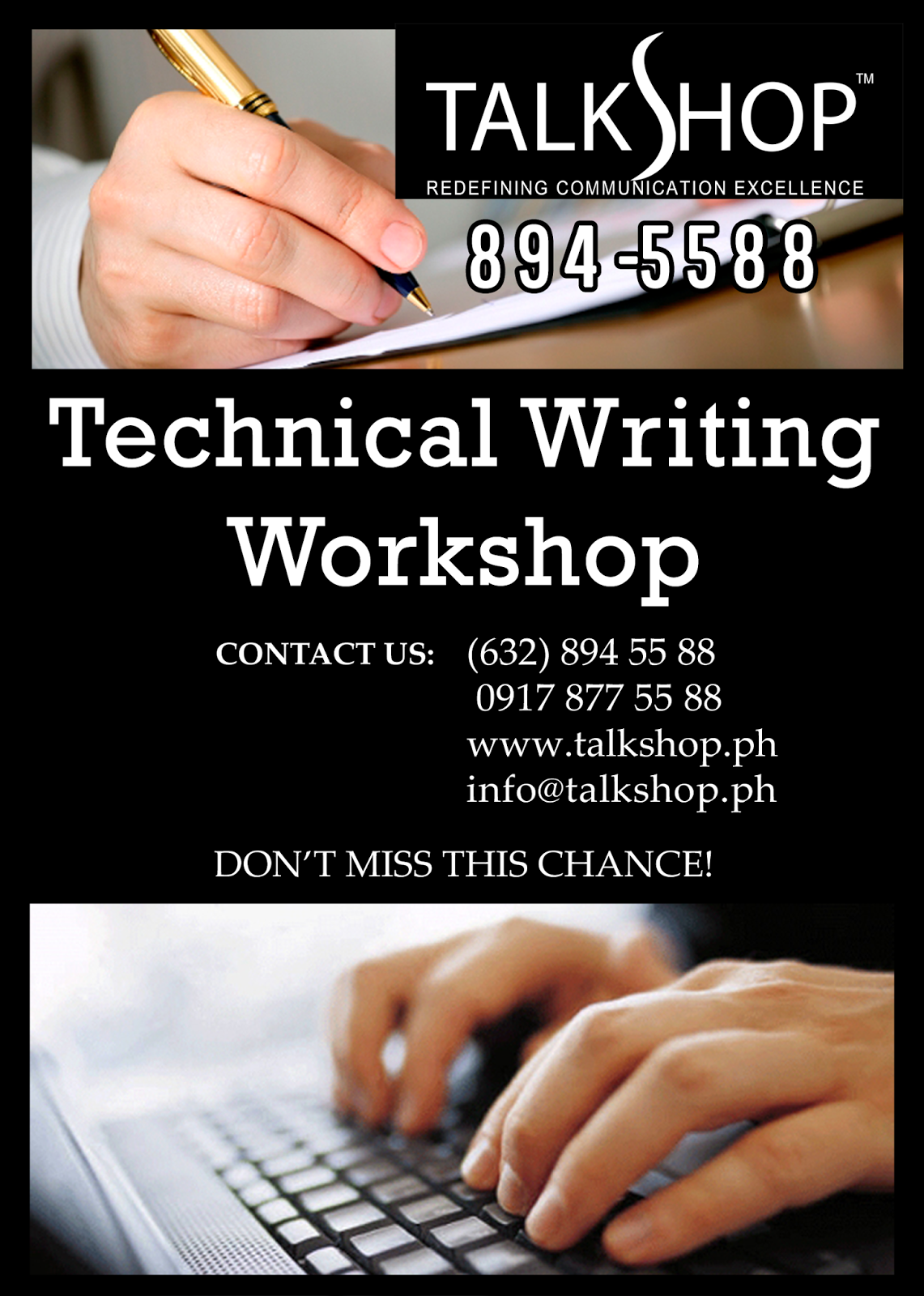 TalkShop Technical Writing Workshop