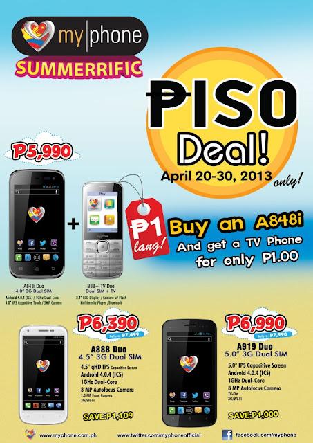 Price Drop: MyPhone Summerrific Piso Deal Promo!