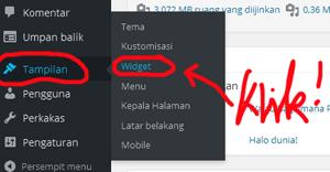 Menambahkan Widget Ke Sidebar Halaman Blog