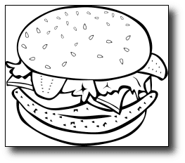 Coloring pictures of food