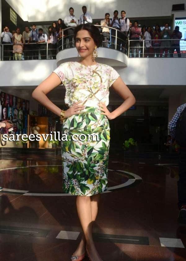Actress Sonam Kapoor in Skirt