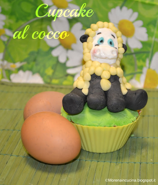 cupcake al cocco per una felice pasqua