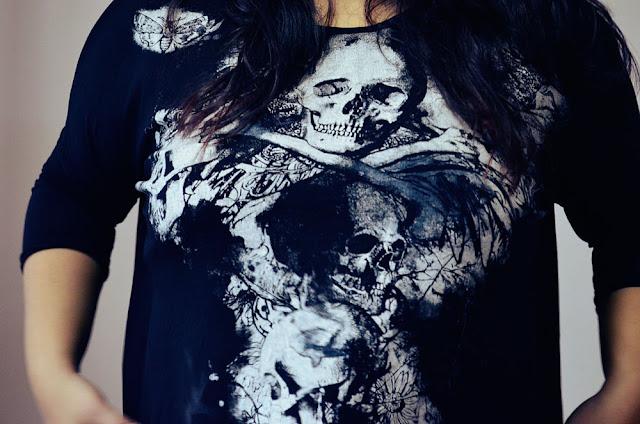 skull print top