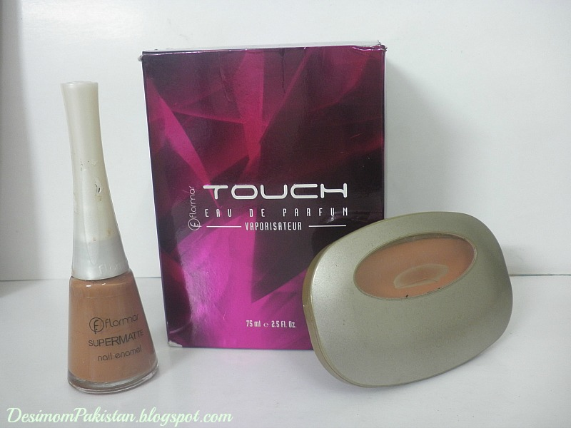 flormar blush,perfume,nail color.