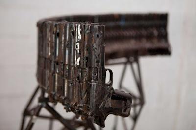 Komponen senjata api dijadikan peralatan muzik