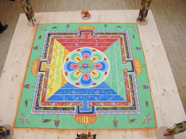 Medizin Buddha, Sandmandala, Kreuzlingen