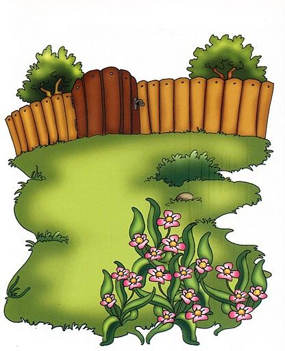 Imagenes habitaciones casa para imprimir for Jardin dibujo