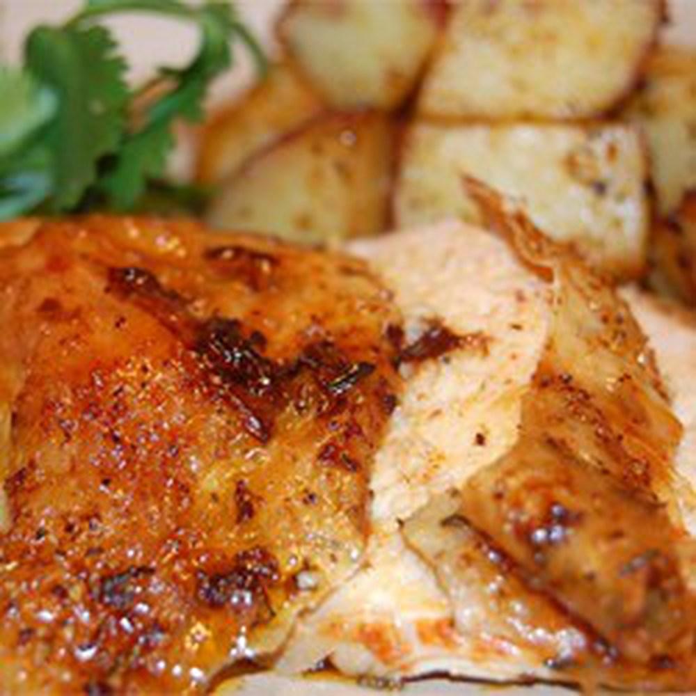 Roast Sticky Chicken-Rotisserie Style, easy chicken recipes, best easy ...